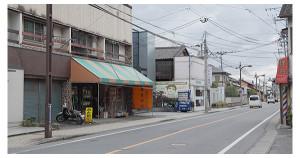 学研帯山校と、加藤金物店の間の道を曲がります。ミヤヤマ動物病院の先。